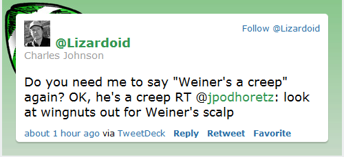cj tweet weiner creep