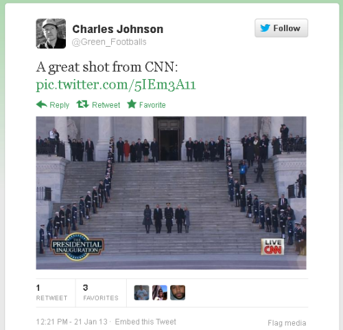 CJ Tweets Inauguration Pic CNN