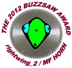 The Buzzsaw Award 2012 MF HORN