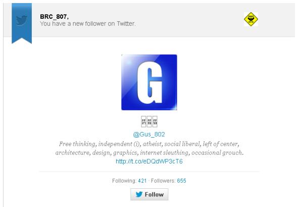 Gus Twitter Follow