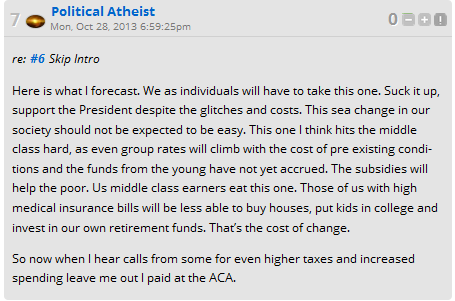 Political Atheist Obamacare
