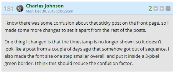 cj confusion sticky post