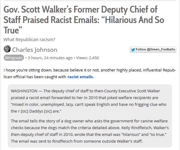 Walker is racist