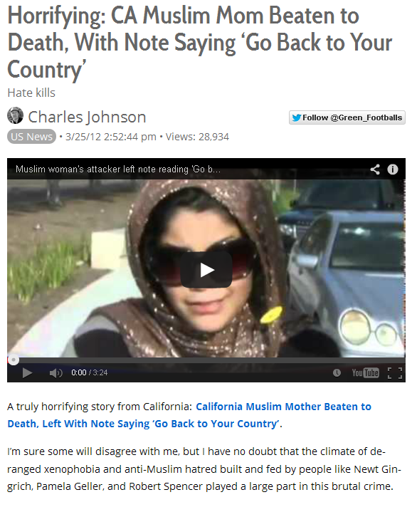 Muslim Woman Beaten To Death 2012