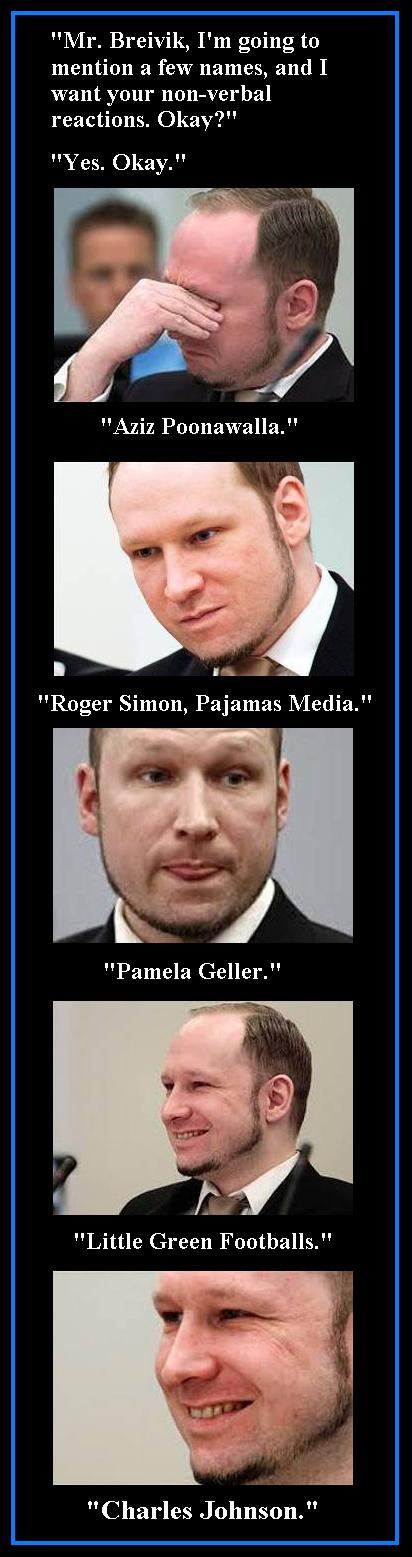 Breivik on Charles Johnson