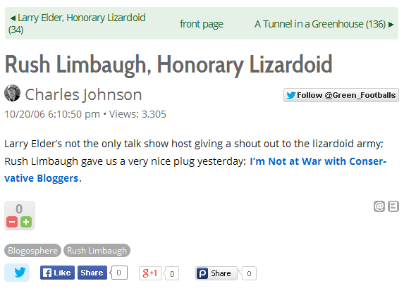 Charles Johnson Rush Limbaugh