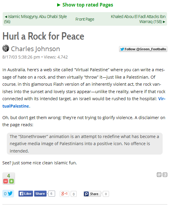 Hurl a Rock for Peace