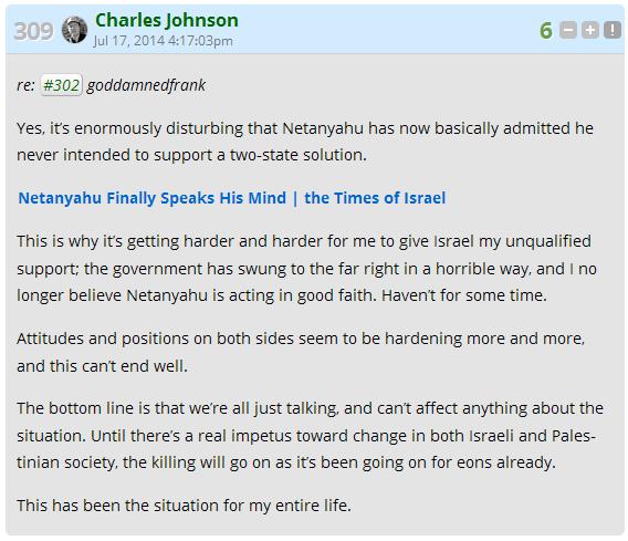 CJ THROWS ISRAEL UNDER THE BUS