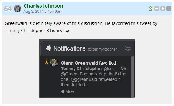 cj aware greenwald discussion