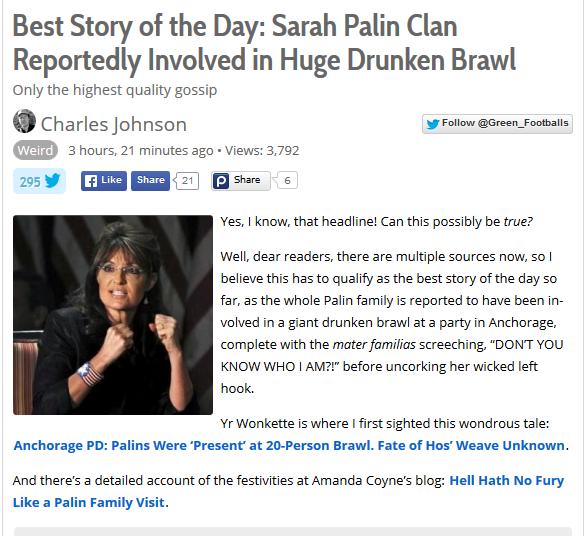 Palin fight