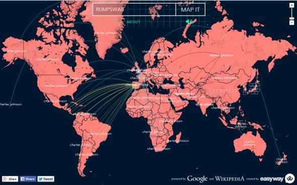 Word Map RUMPSWAB