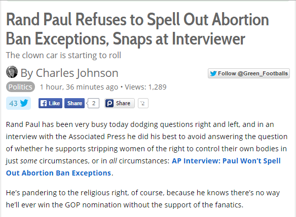 Paul Abortion