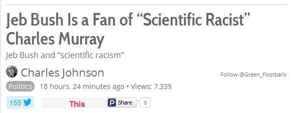 Bush is Racist