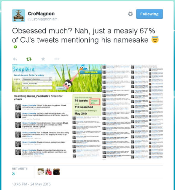 CroMagnon CJ vs CJ Tweet