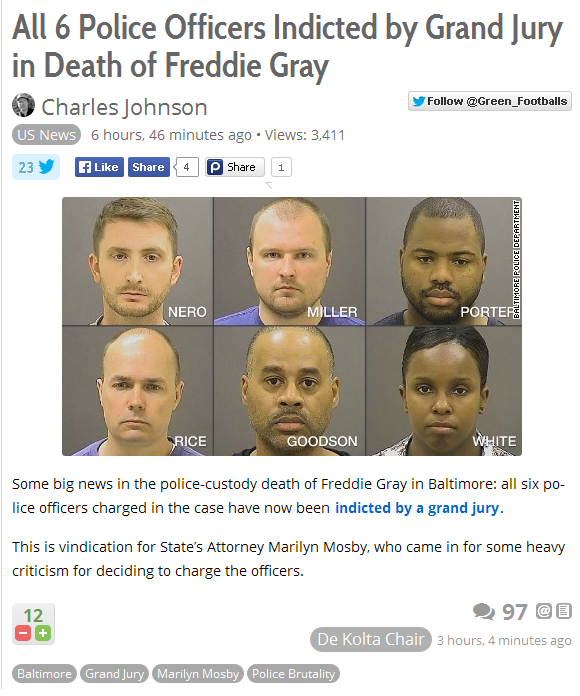 Freddie Gray and Marilyn Mosby 1