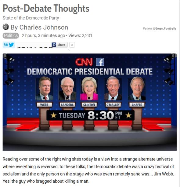 Dem Debate
