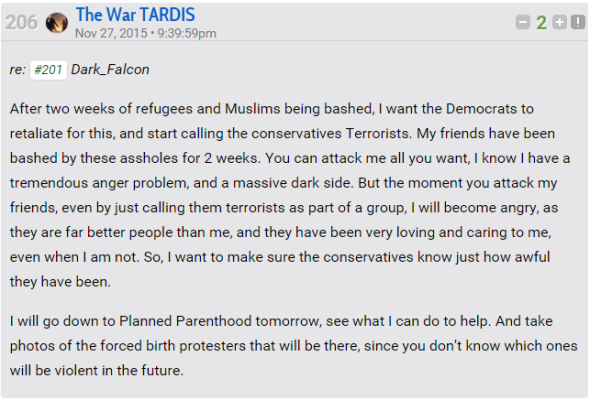 War Tardis threat