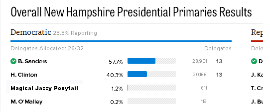 NH Primaries