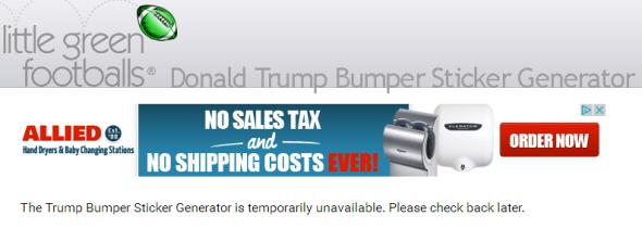 LGF TrumpBump Down